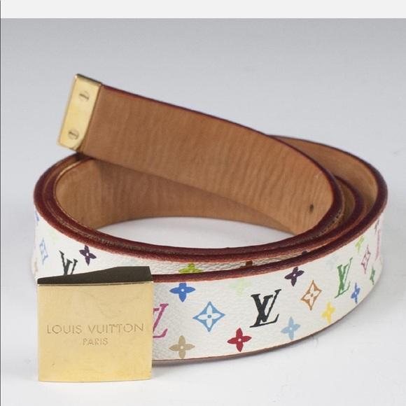71fec6aedb6e Louis Vuitton Accessories - Louis Vuitton Multicolored Belt